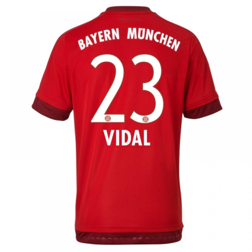 2015-16 Bayern Munich Home Shirt (Vidal 23) B077VJ96QMRed Small 36-38\