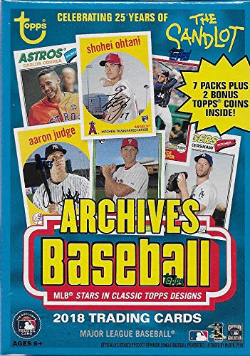 2018 Topps Checklist - 2018 Topps Archives MLB Baseball Series Unopened Blaster Box with a Chance for Shohei Otani Rookie Cards and Tons of Autographs plus 2 EXCLUSIVE Topps Coins Found only in Retail Products