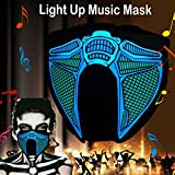 robot mask - ShineWorld Led Light up El Music Rave Face Halloween Party Sound Active Glow Noen Custome DJ Funny Hiphop Mardi Gras Guy Fawks Masquerade Flash Men Mask for Dancing,Riding,Skating,Party&Festival