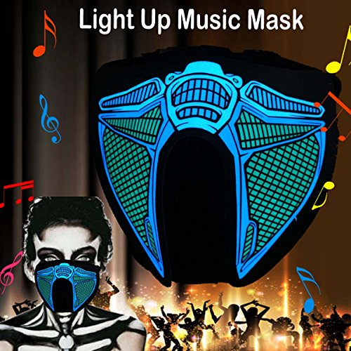 Sound Of Music Dance Costumes (flashingworld Music LED Party Mask With Sound Active For Dancing,Riding,Skating,Party and any Festival (Robot-Mask))