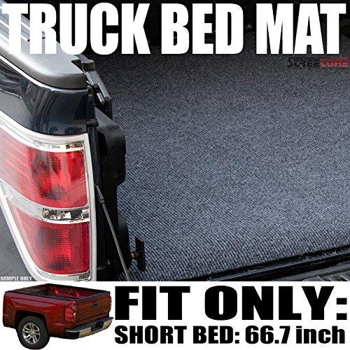 VXMOTOR Grey Black Truck Bed Cargo Box Trunk Floor Rug Mat Carpet 07-16 Toyota Tundra 5.6 Ft 67.2