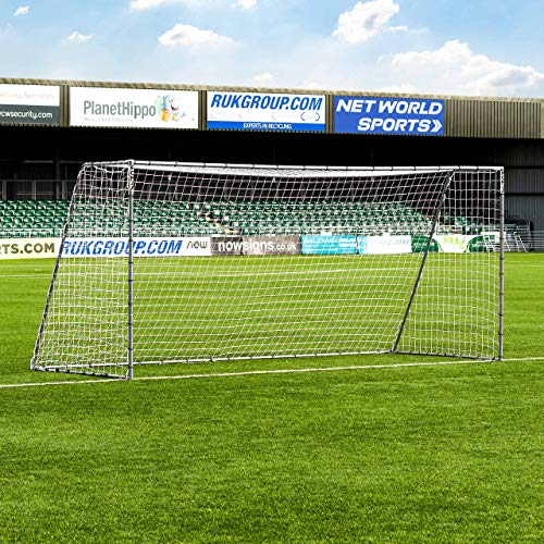 - Net World Sports Forza Steel42 Soccer Goal | Premium Backyard Soccer Goals for Juniors | Weatherproof Steel Goals | Choose Your Size (16 x 7)