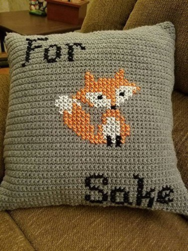 For Fox Sake Throw Pillow by Shay's Crochet Creation