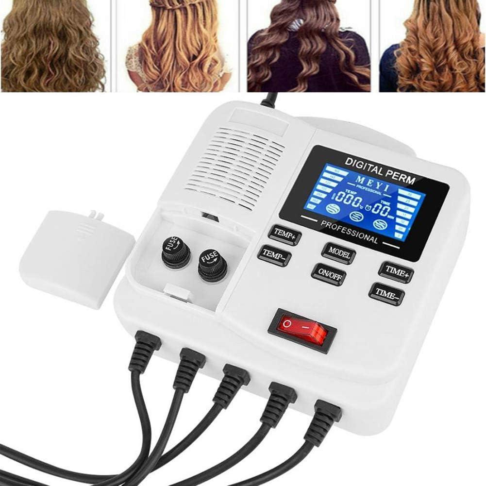 DDT Portable Digital Hair Perm Machine with Hair Roller PTC Heating Salon Beauty Hair Styling Tool