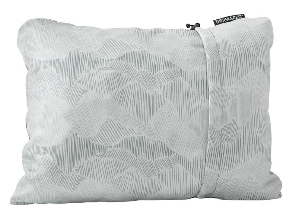 "Therm-a-Rest Compressible Travel Pillow for Camping, Backpacking, Airplanes and Road Trips, Gray, Small: 12"" x 16"""