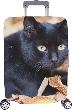 El Gato Negro con patrón de Ojos Amarillos Spandex Maleta de Viaje ...