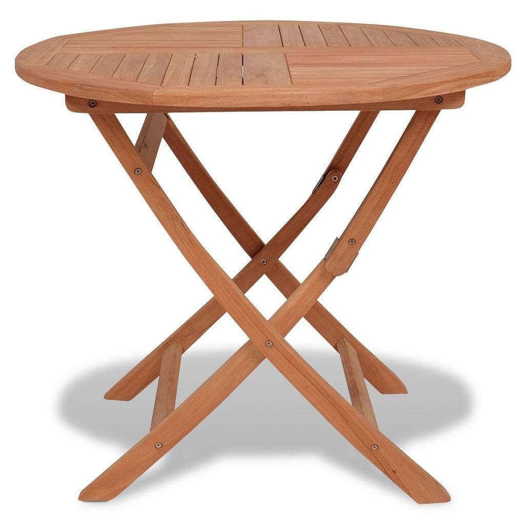 Amazon Com Daonanba Teak Table Outdoor Dining Table Garden Table