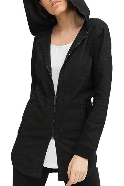 trueprodigy Casual Mujer Marca Chaqueta Militar Ropa Retro Vintage Rock Vestir Moda con Capucha Manga Larga Slim fit Designer Cool Urban Fashion Jacket ...