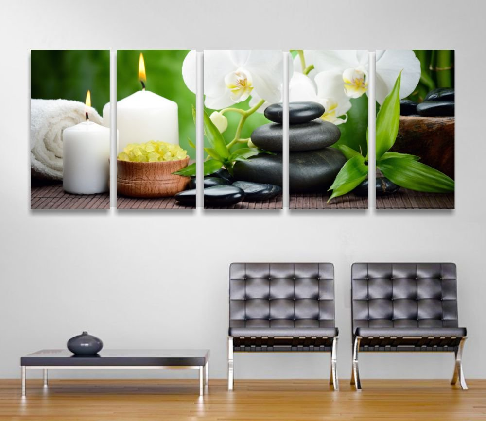 Zen 7 – Modernes Bild gerahmt 190 x 70 cm Druck auf Leinwand Bambus ...