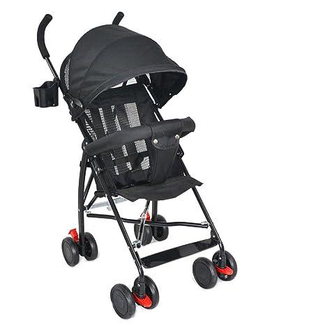 Cochecito de bebé Ultraligero de 4 Ruedas con portavasos Carrito para Paraguas de bebé Material de