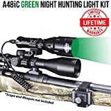 Wicked Lights A48iC Night Hunting Kit With Green Intensity Control LED for Predator, varmint & Hog complete Green led light kit