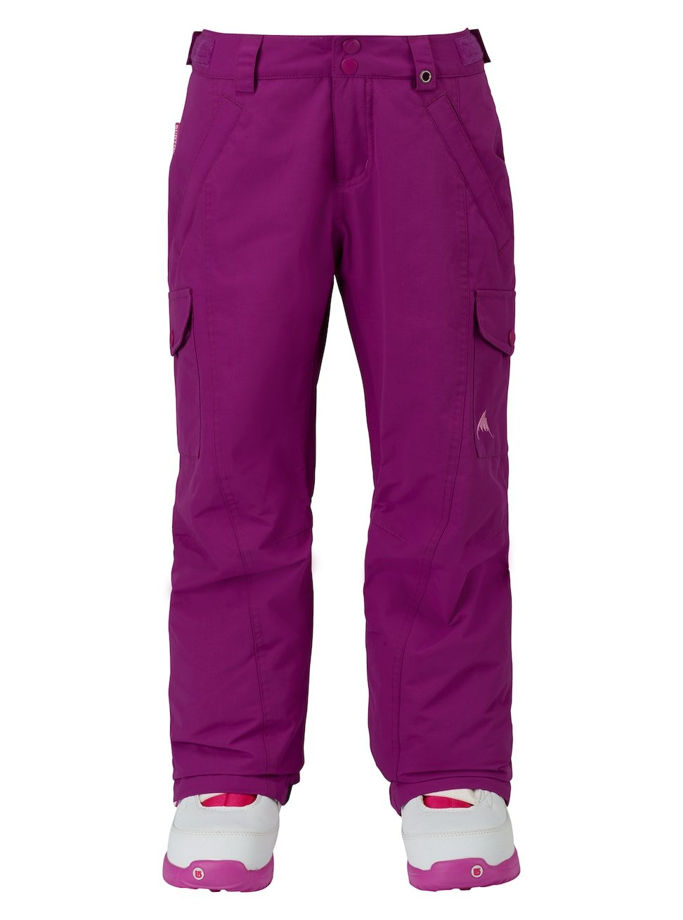 Burton Kids Girls Elite Cargo Snow Pants Grapeseed Size Large