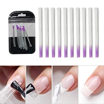 Amazon.com : LILYCUTE Fiberglass Nail Form for Nail Art Quick ...