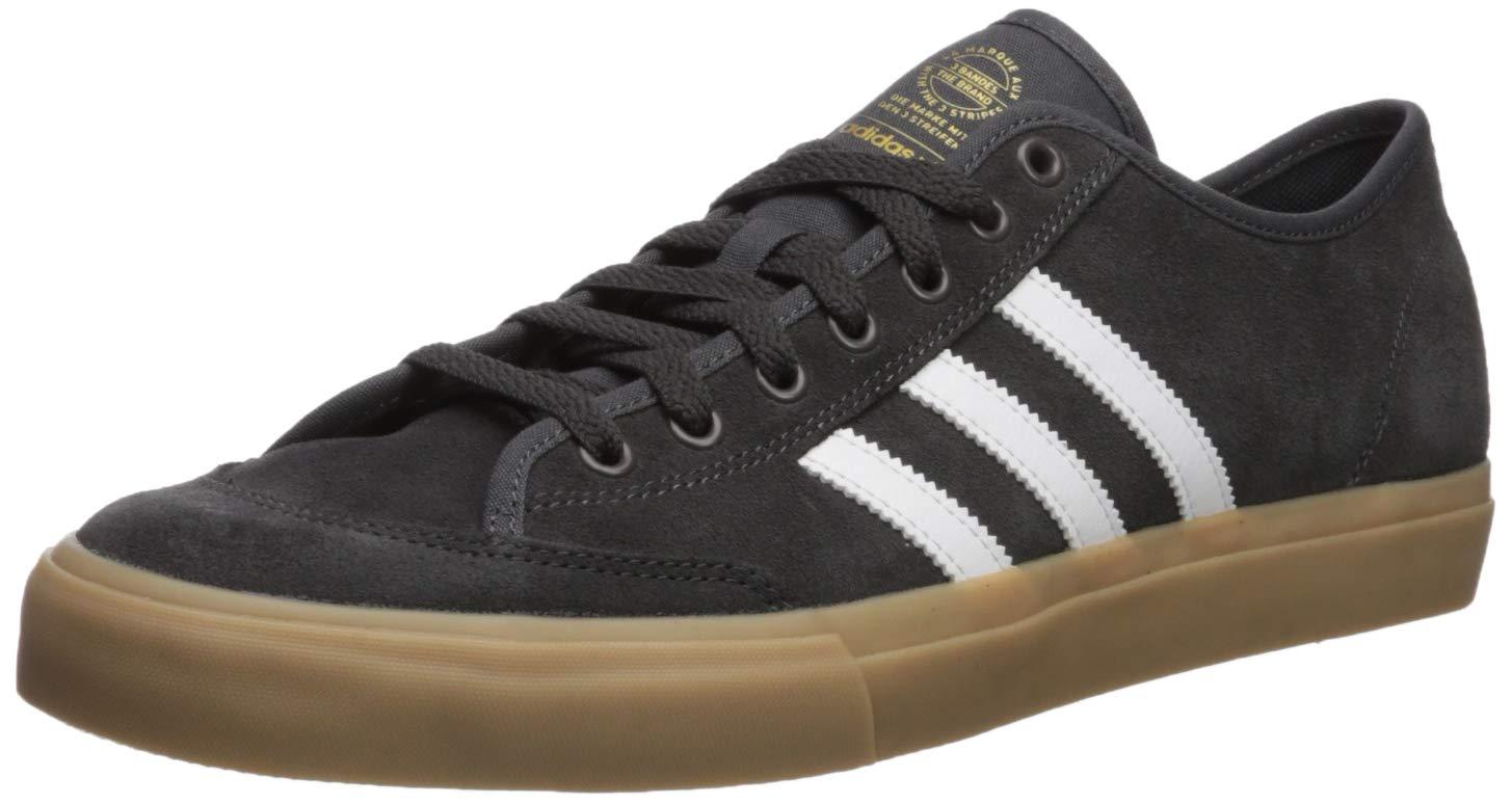 adidas Originals Men's Matchcourt Sneaker, Dark Grey Heather/White/Gum, 7.5 M US by adidas Originals