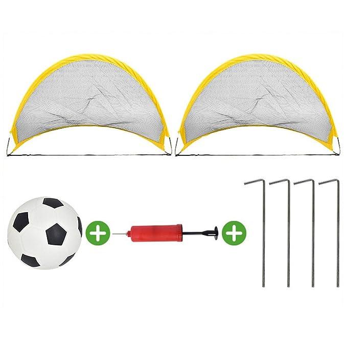 Set de fútbol para niños con bomba de portería de fútbol portátil ...