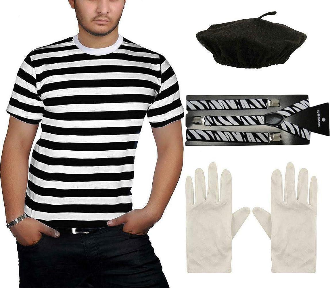Accesorio para disfraz de Mime francés para adultos, color negro ...