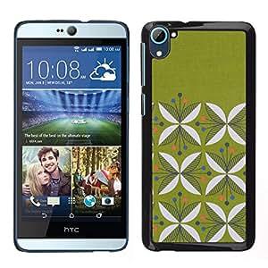 Funda Stuss/Carcasa rígida - patrón Floral minimalista Moss - HTC Desire D826