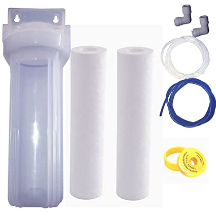 DE®Aqua Z O-Ring Pre-Filter Kit with 2 PP Spun, Spanner, 5m Pipe (White)