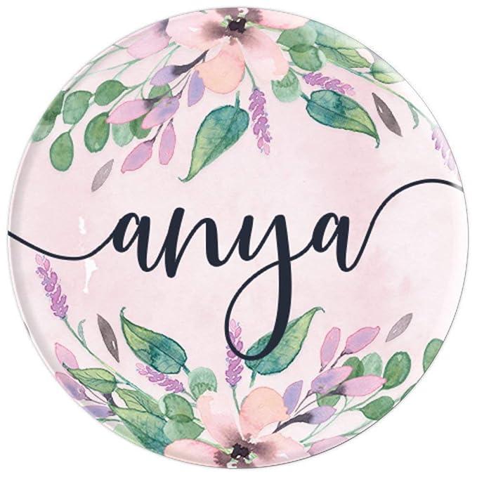 Amazon.com: Anya – personalizado niña nombre primer rosa ...