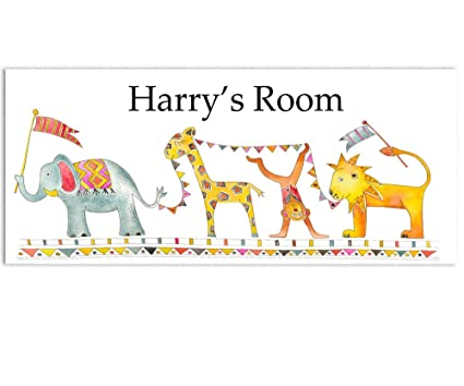 Jungle Parade Door Signs Nursery Room Sign Personalised Childrens