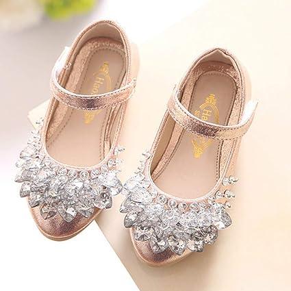 21b5e66ac7d Amazon.com  Aegilmc Ballet Mary Jane Shoes for Girls Crystal ...