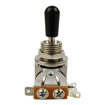 IKN – 1 pcs 3 Vías interruptor selector de Pastilla bañado en níquel para guitarras Gibson