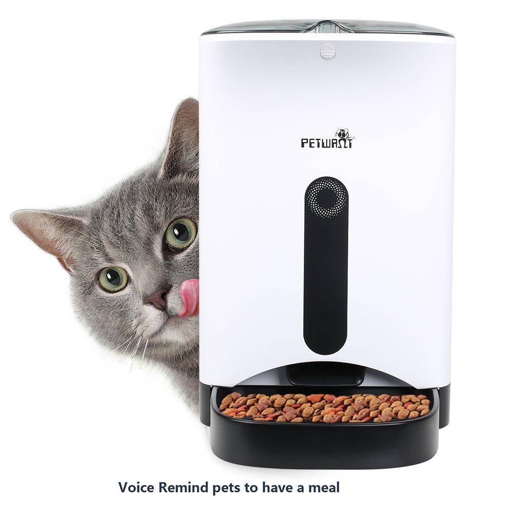 Comederos automáticos Alimentador de Mascotas 4.3L para Perros y Gatos - Hasta 4 Comidas al Día: Amazon.es: Productos para mascotas