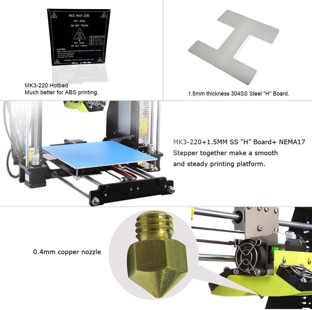 3D Desktop Printer Acrylic LCD Screen DIY High Accuracy Self Assembly P802M SS