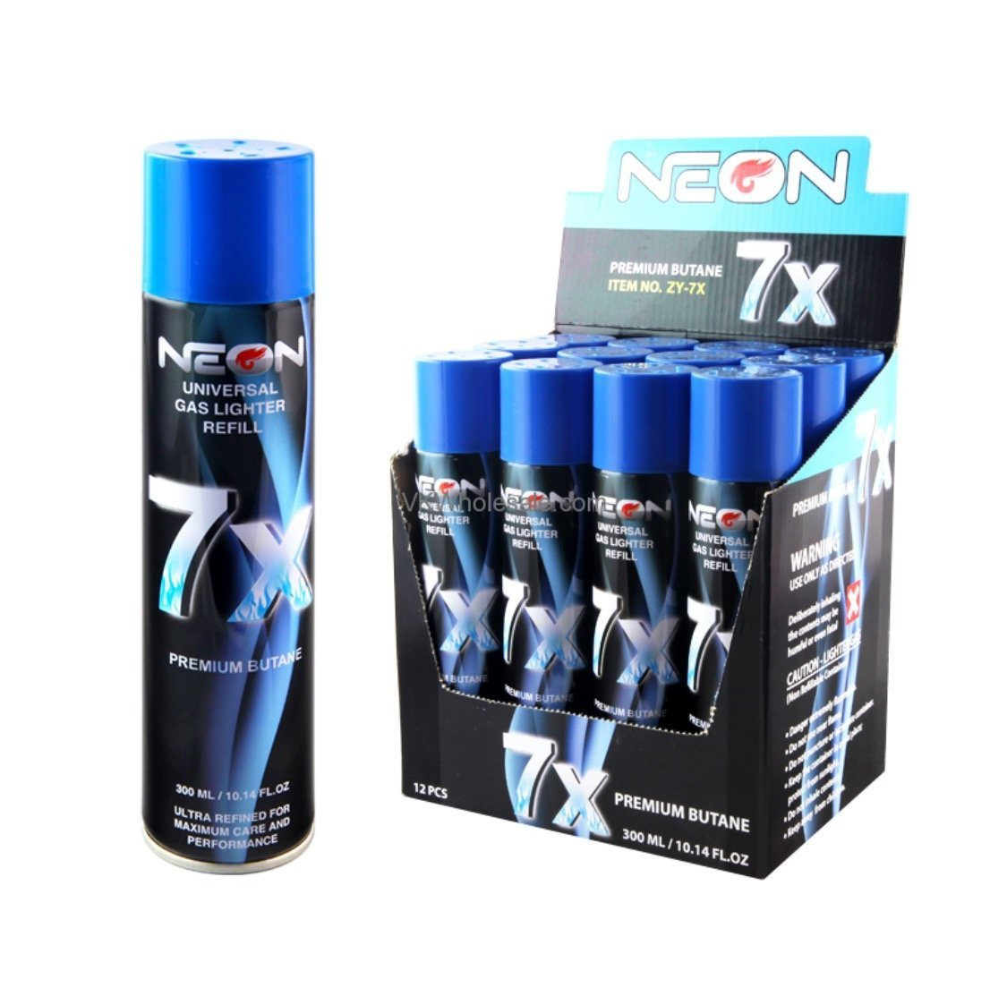 Neon 7X Butane Fuel 12 Pack