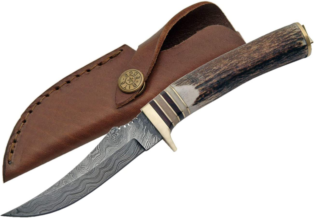 Damascus Szco Supplies Slim Blade Skinning Knife