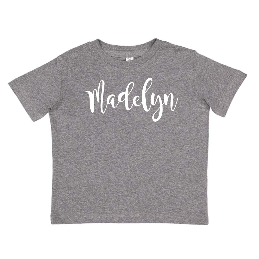 Personalized Name Toddler//Kids Short Sleeve T-Shirt Mashed Clothing Madelyn