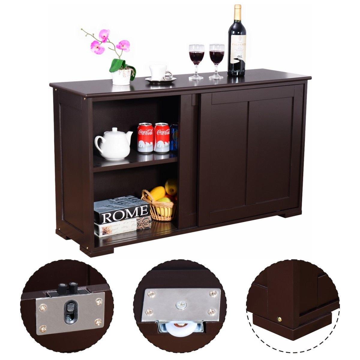 New MTN-G Kitchen Storage Cabinet Sideboard Buffet Cupboard Wood Sliding Door Pantry by MTN Gearsmith
