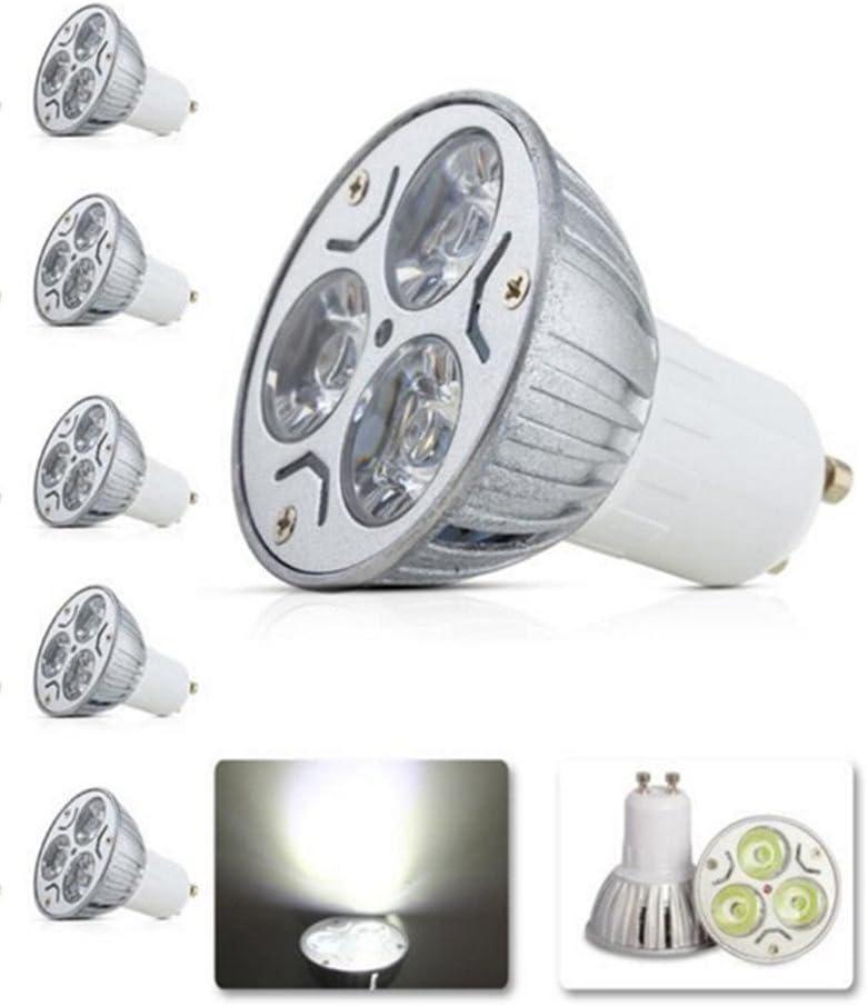 7000K Daylight Spotlight G-Anica 5pcs Pack 110V 3W GU10 LED Bulbs 270Lumen 120 Degree Beam Angle 33Watt Equivalent