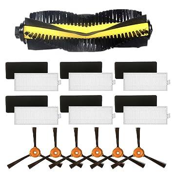 louu 1pcs cepillo con ruedas (para + 6 pcs cepillo lateral + 6 pcs HEPA