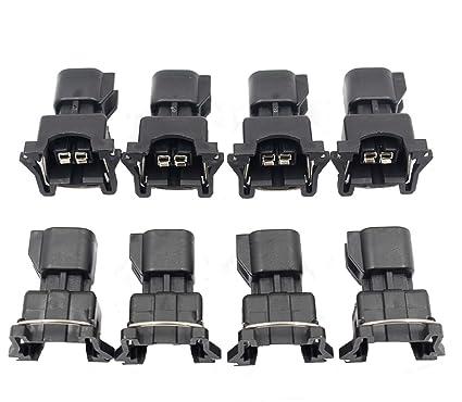 amazon com: goodeal 8pcs fuel injector connector adapter ev6 to ev1 uscar  ls2 ls3 lsx ls1 lt1 tpi: automotive