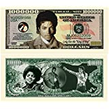 """Limited Edition Michael Jackson """" King of Pop"""" Commemorative Million Dollar Collectible Bill"""
