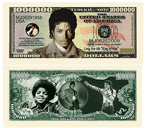 (American Art Classics Limited Edition Michael Jackson  King of Pop Commemorative Million Dollar Collectible Bill )
