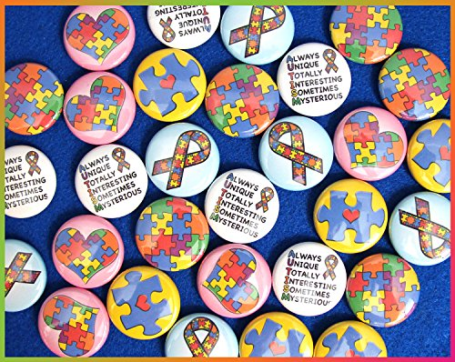 (ILMS Autism Awareness Mini Buttons. (1