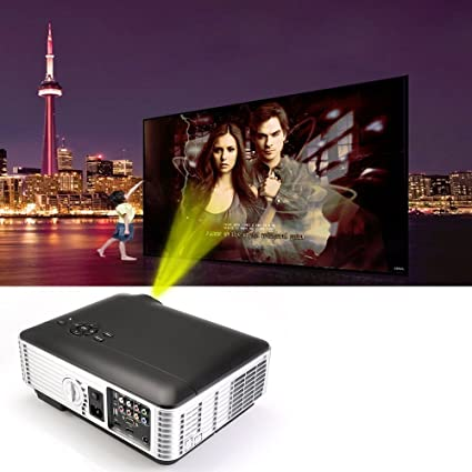 Flylinktech® HD LED proyector de cine en casa 1280x800 resolución ...