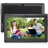 AIYIBEN 7 インチ グーグルGoogle Android タブレット 無線WIFI 8GB Allwinner A33 1024x600 ピクセル タッチスクリーン ブルートゥースと デュアルカメラ 3D ゲームタブレット (ブラック)