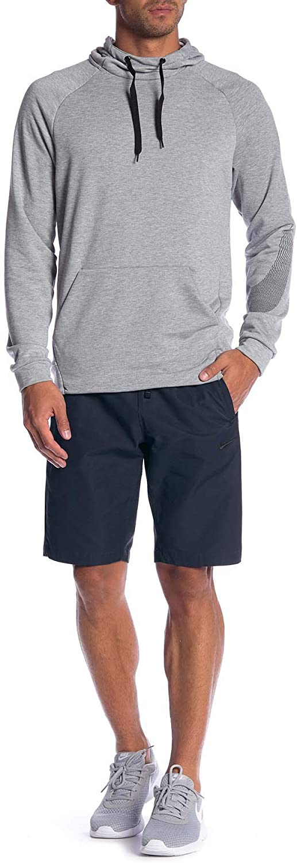 "Nike Men/'s Sportswear Woven Players 10/"" Shorts AA5032-010 Black//Black Slim Fit"