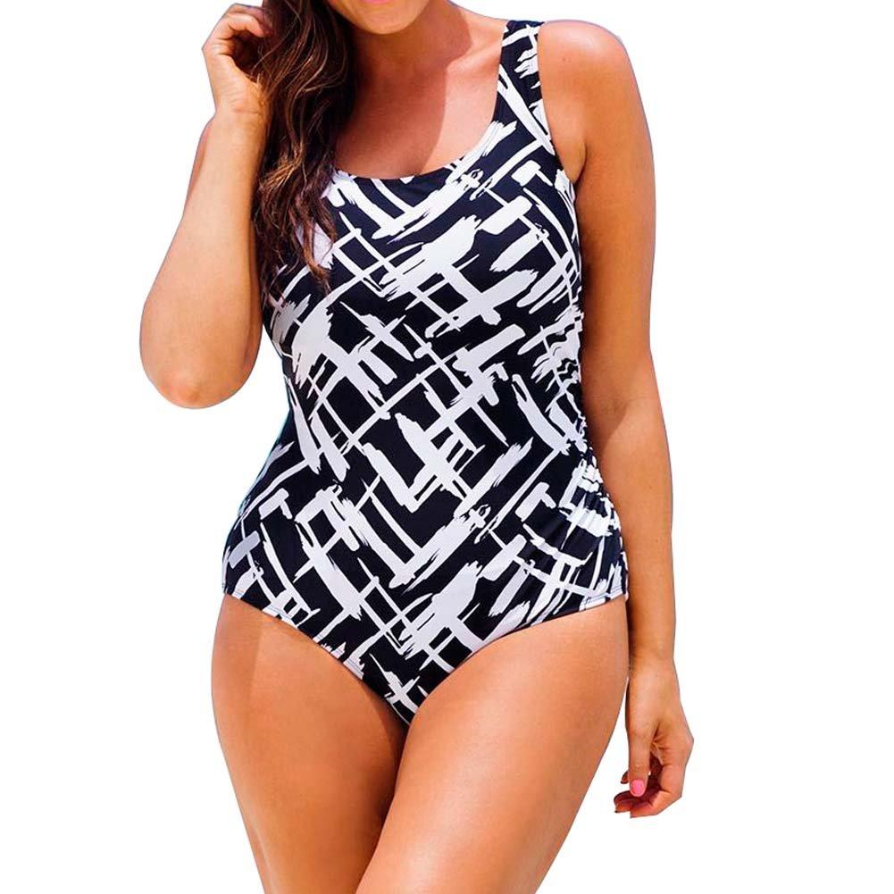 ORANSSI Women Digital Print One Pieces Monokinis Swimwear Swimsuit Plus Size Bikinis