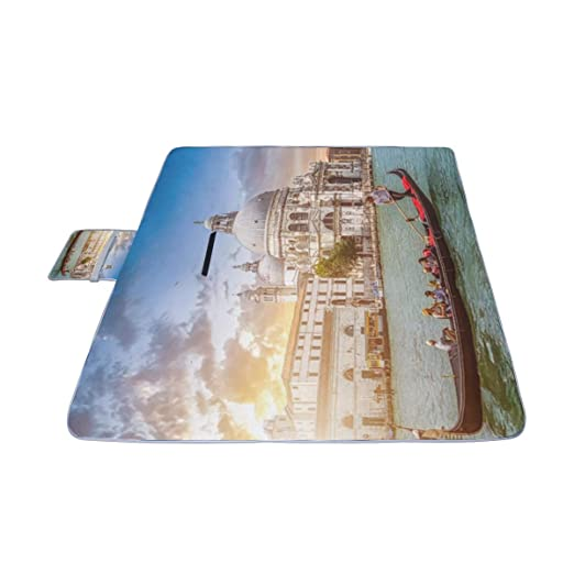 YKNFIS - Colchoneta de Picnic con diseño de Canal y Puente al ...