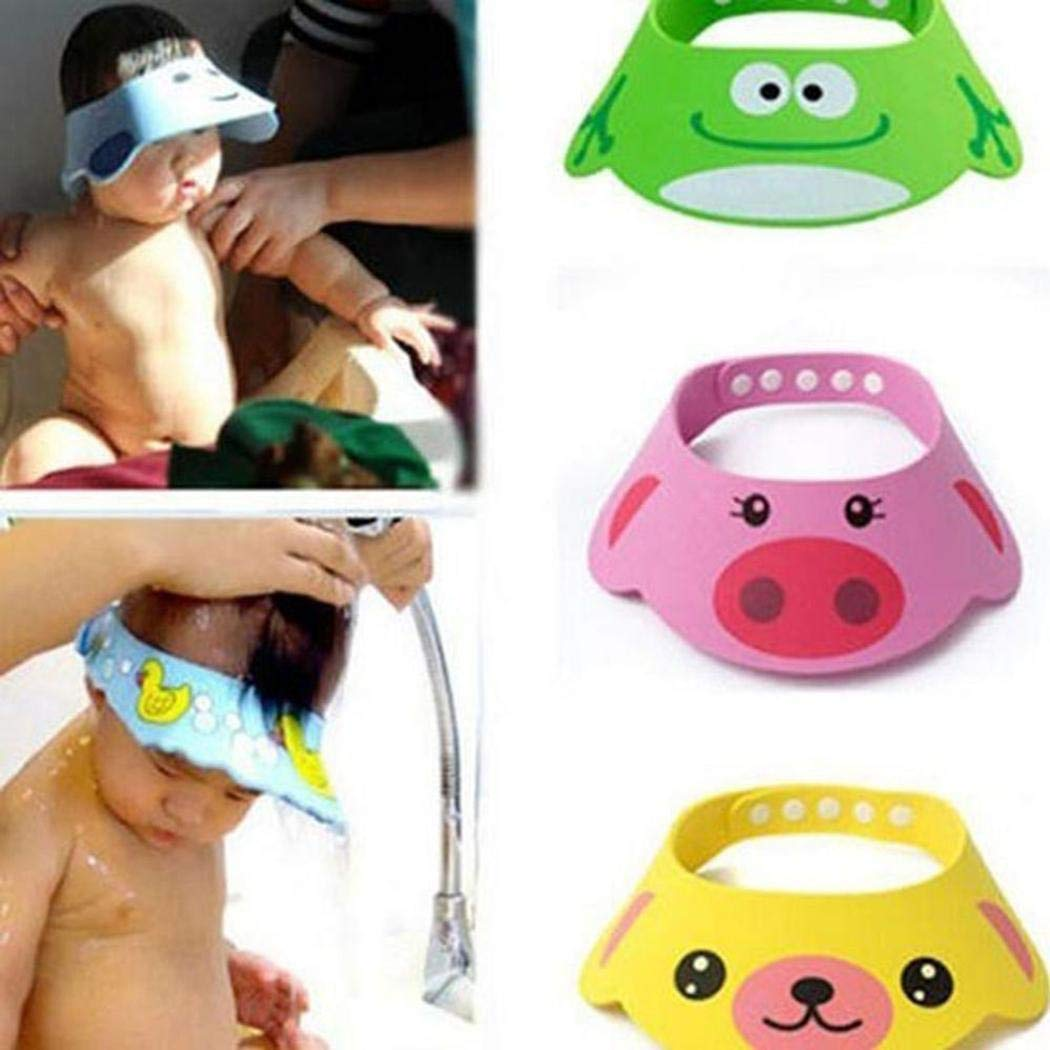 Baorin Adjustable Lovely Baby Toddler Shampoo Shower Hat Bathing Cap Bathroom Safety