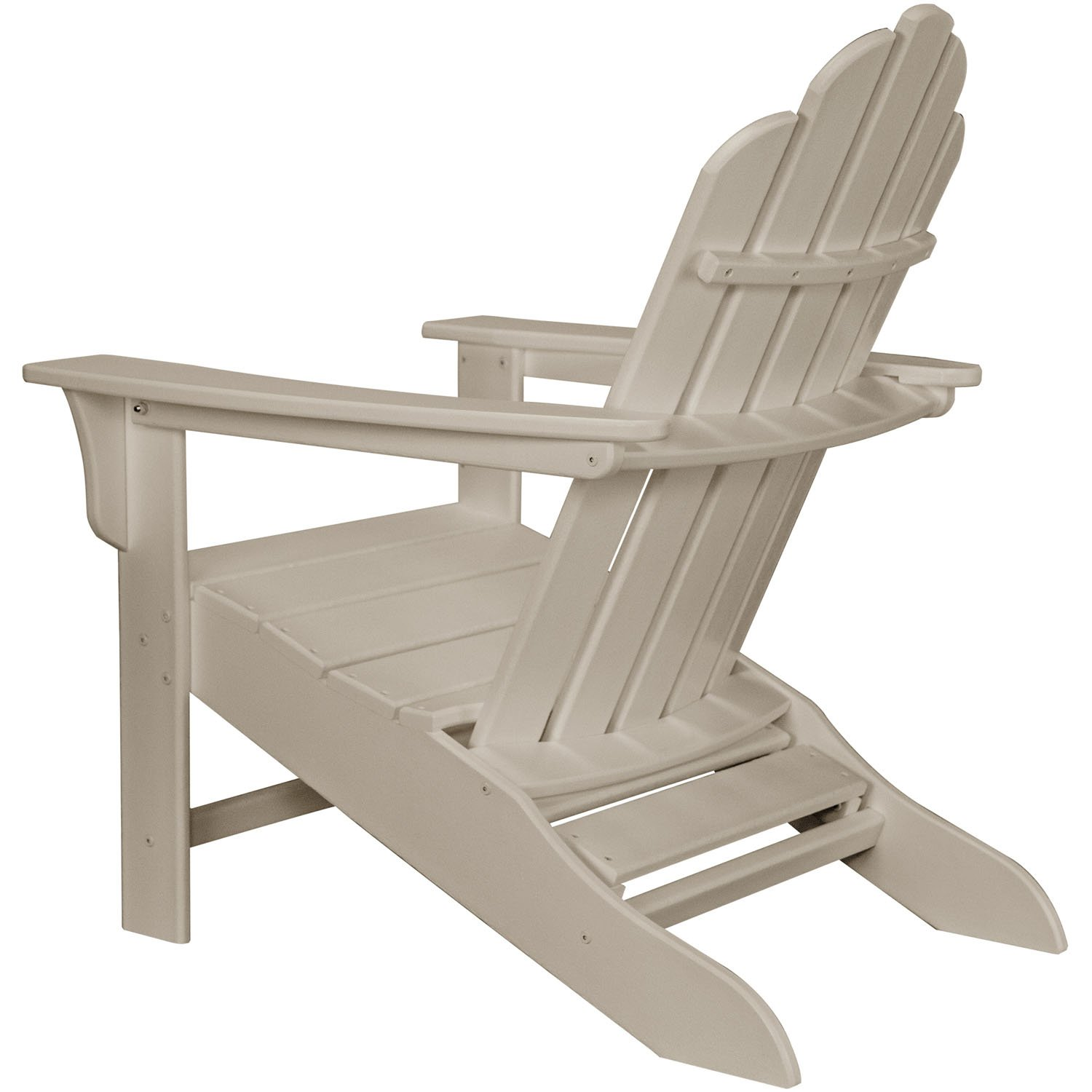 Hanover Outdoor Furniture HVLNA15AR All Weather Contoured Adirondack Chair with Hideaway Ottoman Aruba