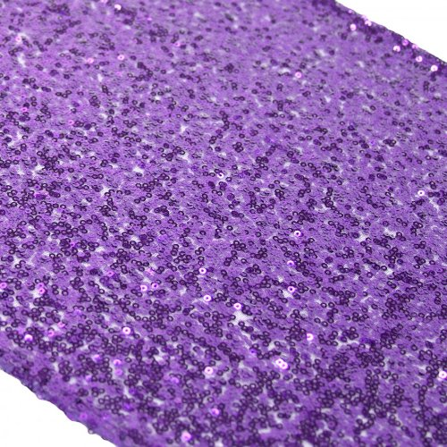Koyal Wholesale Sequin Table Runner, 13 by 108-Inch, (Purple Table Decorations)
