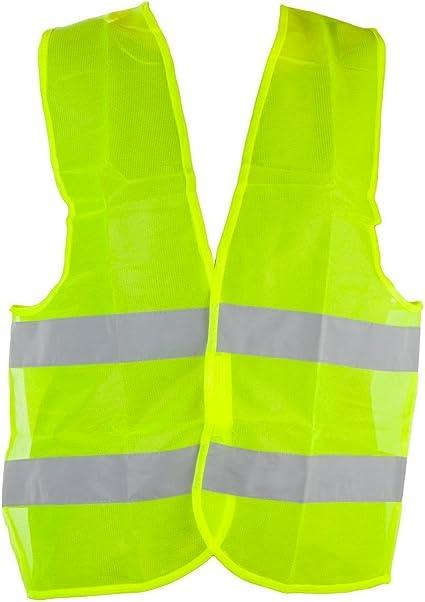 Eurobatt – Chaleco Reflectante de Seguridad Amarillo EN 471 para Coche, Bicicleta y peatones: Amazon.es: Coche y moto
