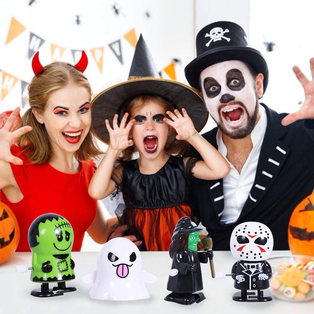 Max Fun 18 Pack Halloween Wind Up Toys Assortment for Halloween Party Favors Goody Bag Filler Halloween