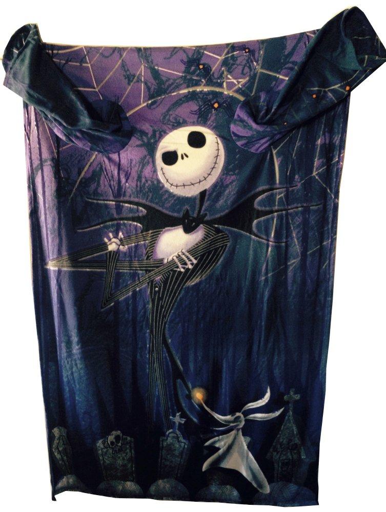 The Nightmare Before Christmas Comfy Blanket with Sleeves ~ Jack Skellington & Zero ~ Unisex Adult Size