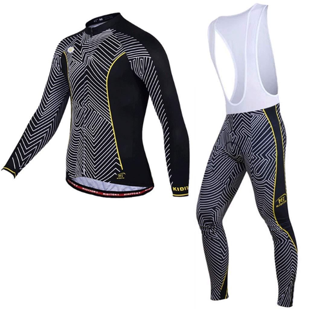 Xiaoping Fahrradbekleidung langärmelige Slings Fahrradanzug Herrenanzug Fahrrad Mountainbike-Ausrüstung Reithose Hosen Kleidung